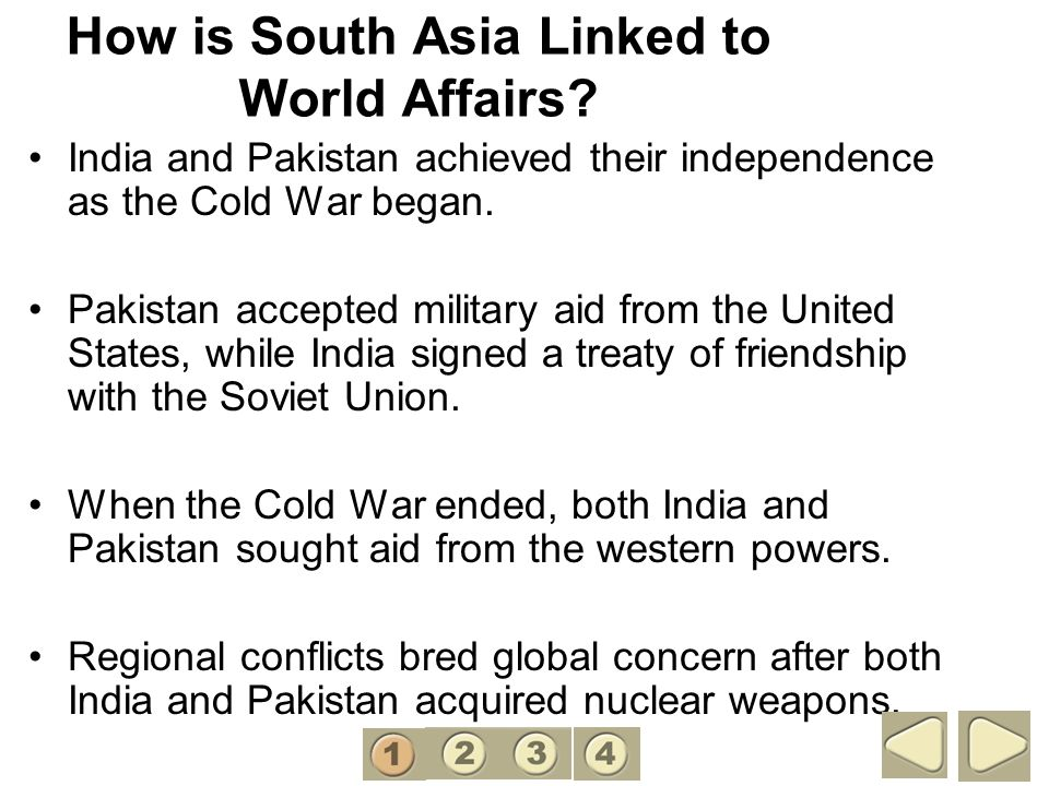 How is South Asia Linked to World Affairs