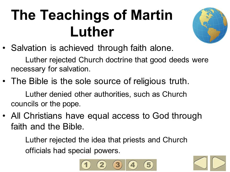 The Teachings of Martin Luther