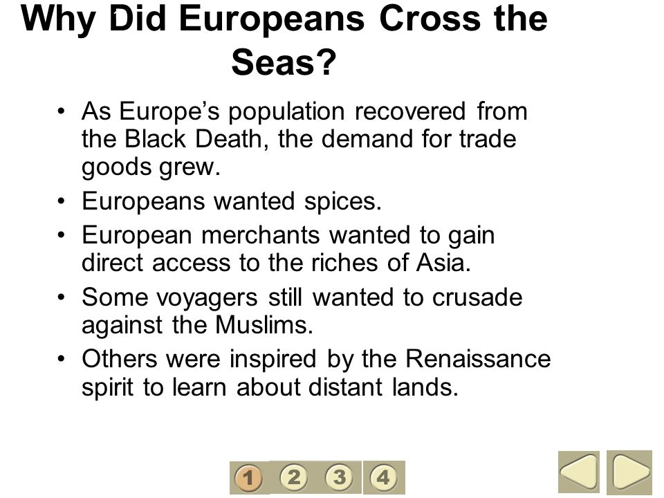 Why Did Europeans Cross the Seas