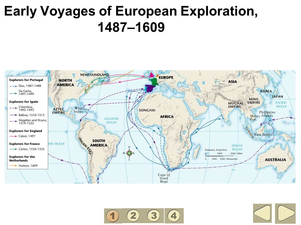 Early Voyages of European Exploration, 1487–1609