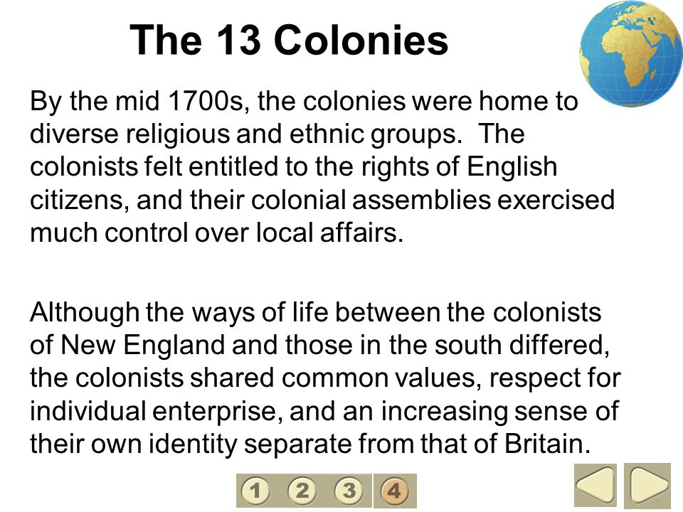 The 13 Colonies 4.