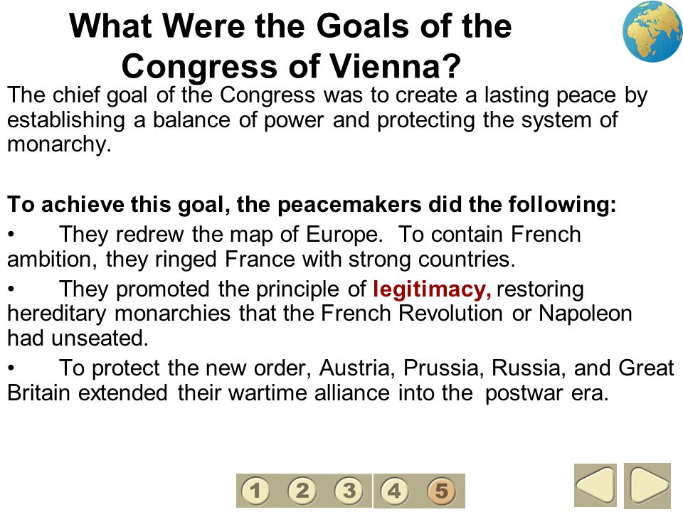 What Were the Goals of the Congress of Vienna