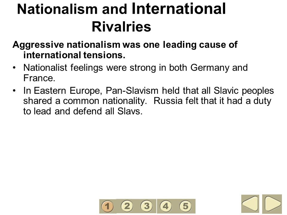 Nationalism and International Rivalries