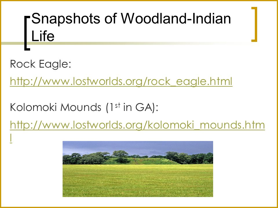 Snapshots of Woodland-Indian Life