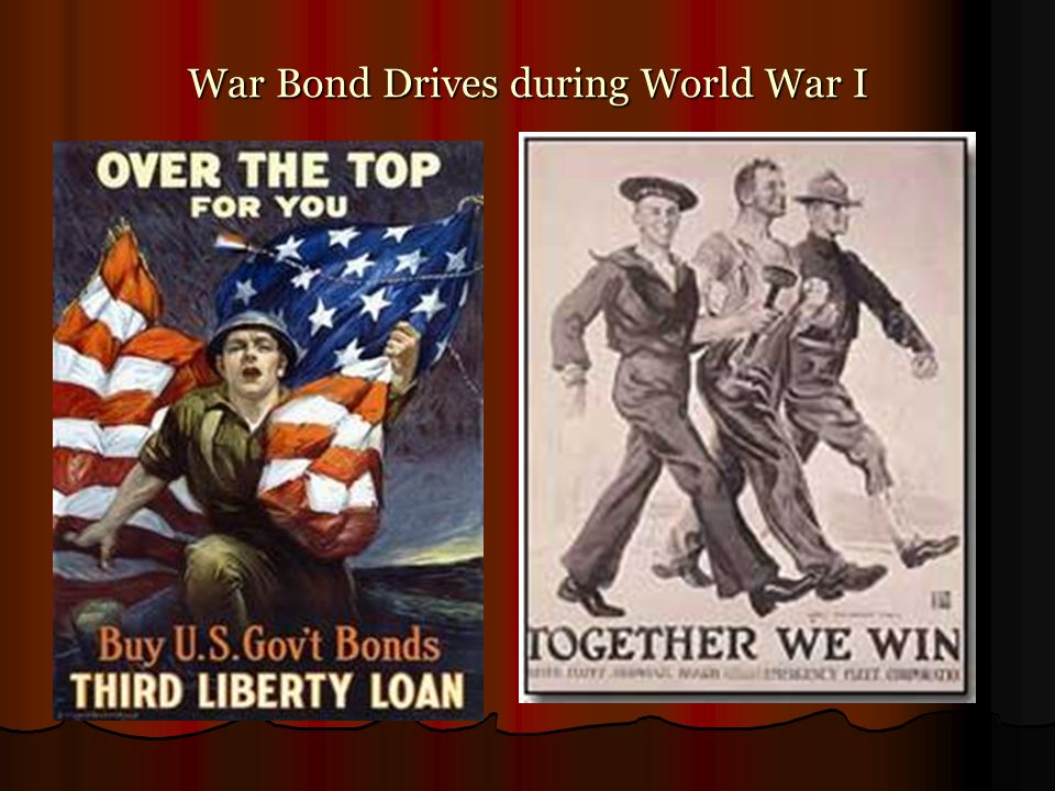 War Bond Drives during World War I