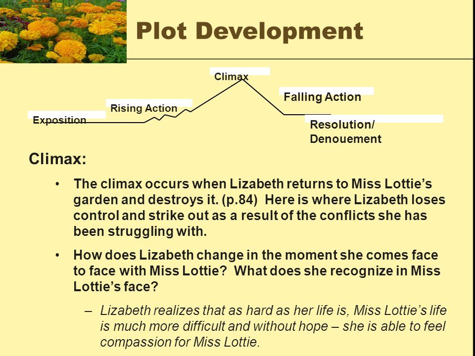 Plot Development Climax: