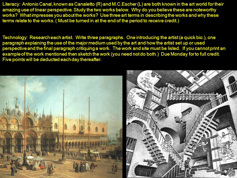Literacy: Antonio Canal, known as Canaletto (R) and M. C