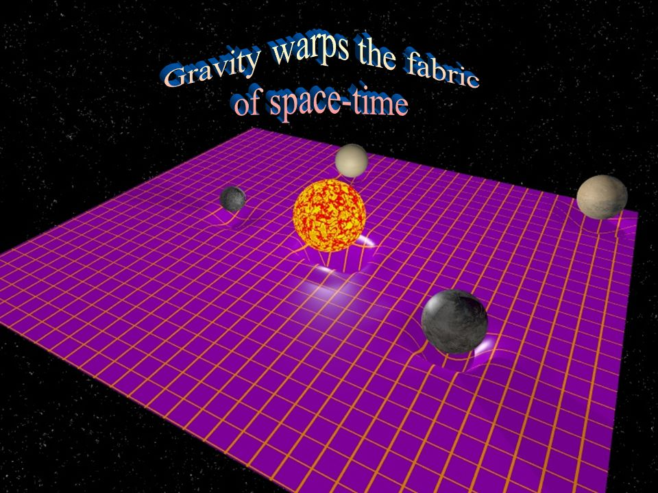 Gravity warps the fabric