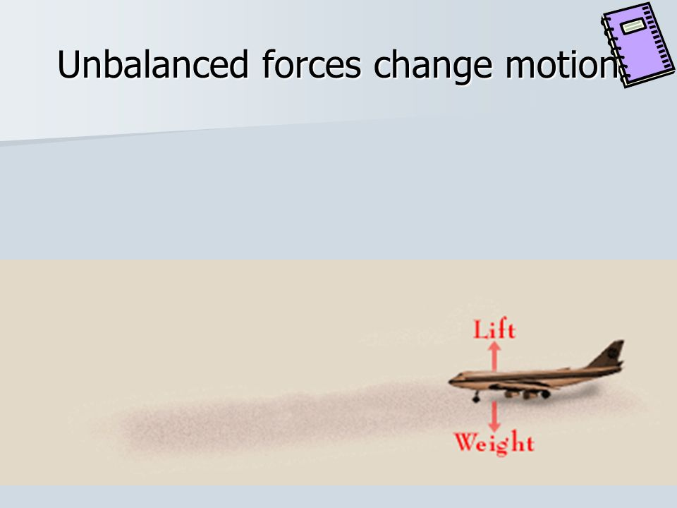 Unbalanced forces change motion
