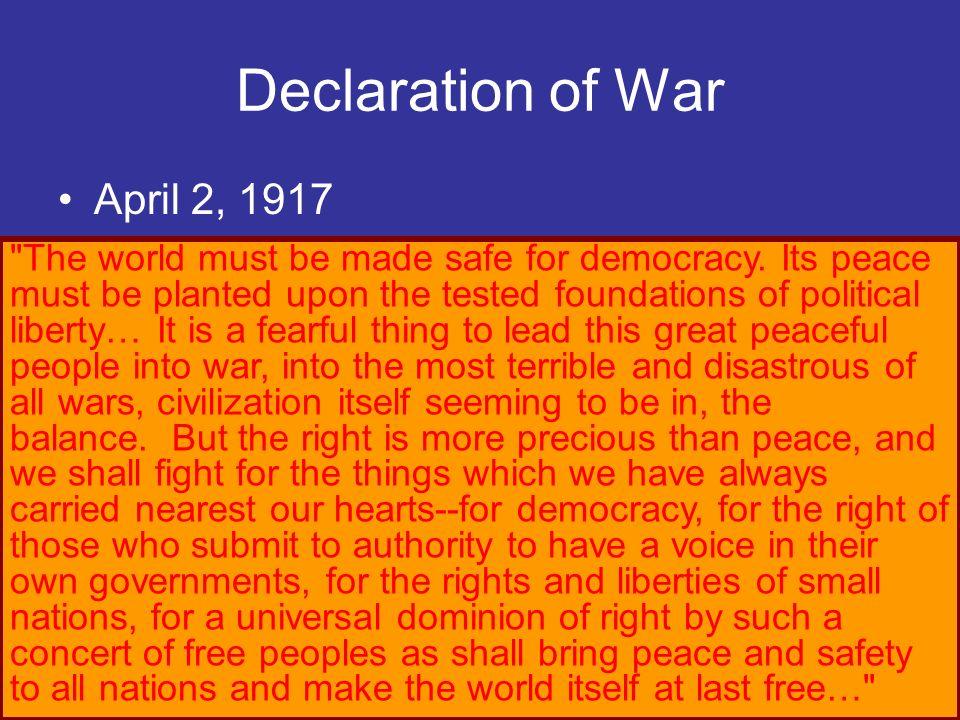 Declaration of War April 2, 1917