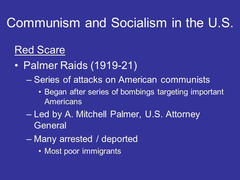 Communism and Socialism in the U.S.