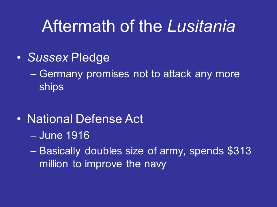 Aftermath of the Lusitania
