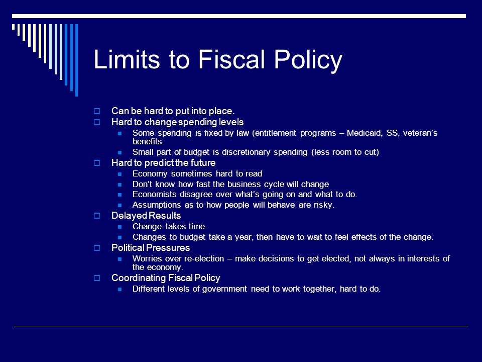 Limits to Fiscal Policy
