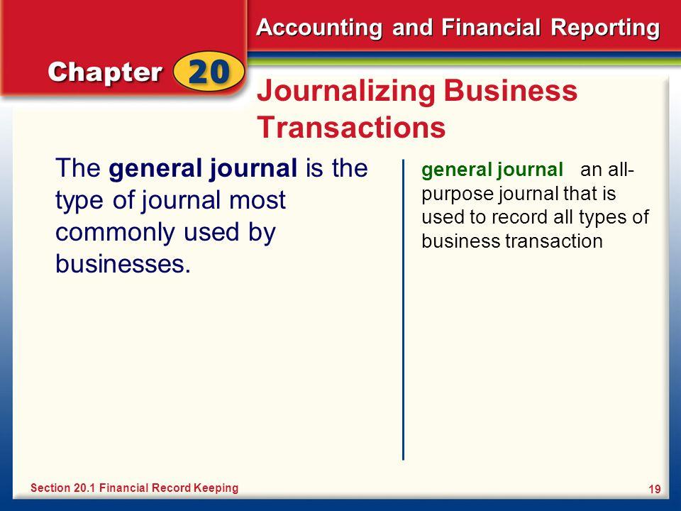 Journalizing Business Transactions