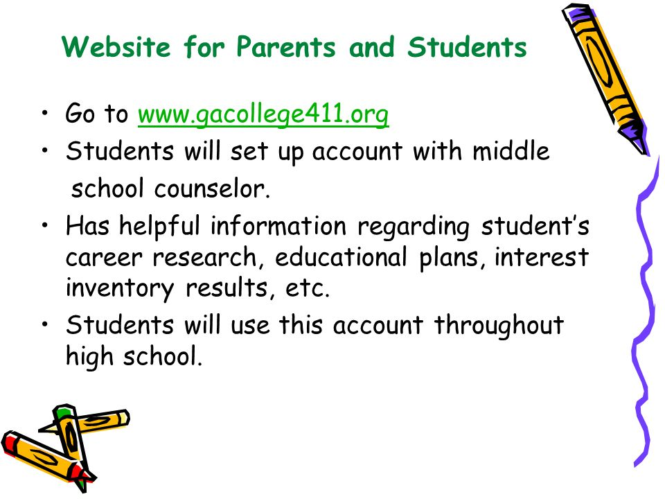 Website for Parents and Students