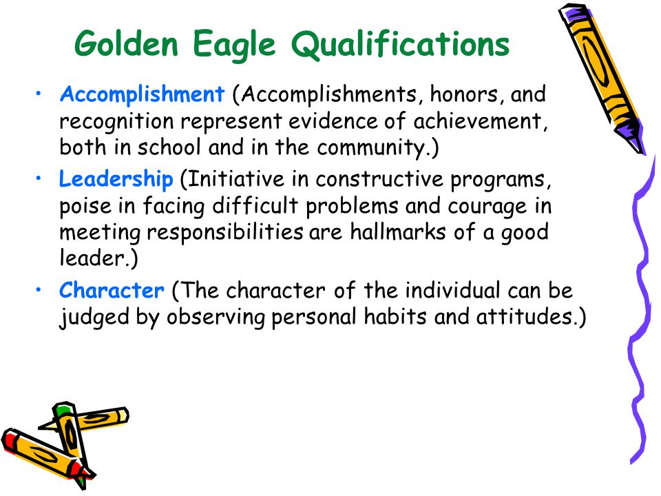 Golden Eagle Qualifications