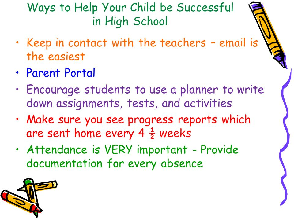 Ways to Help Your Child be Successful in High School
