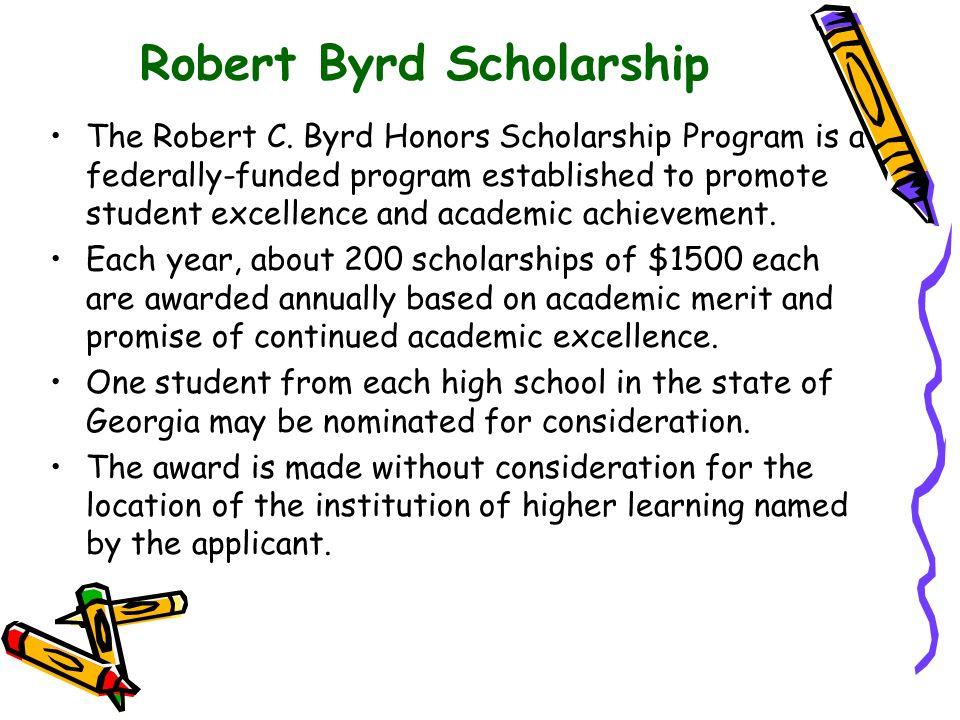 Robert Byrd Scholarship