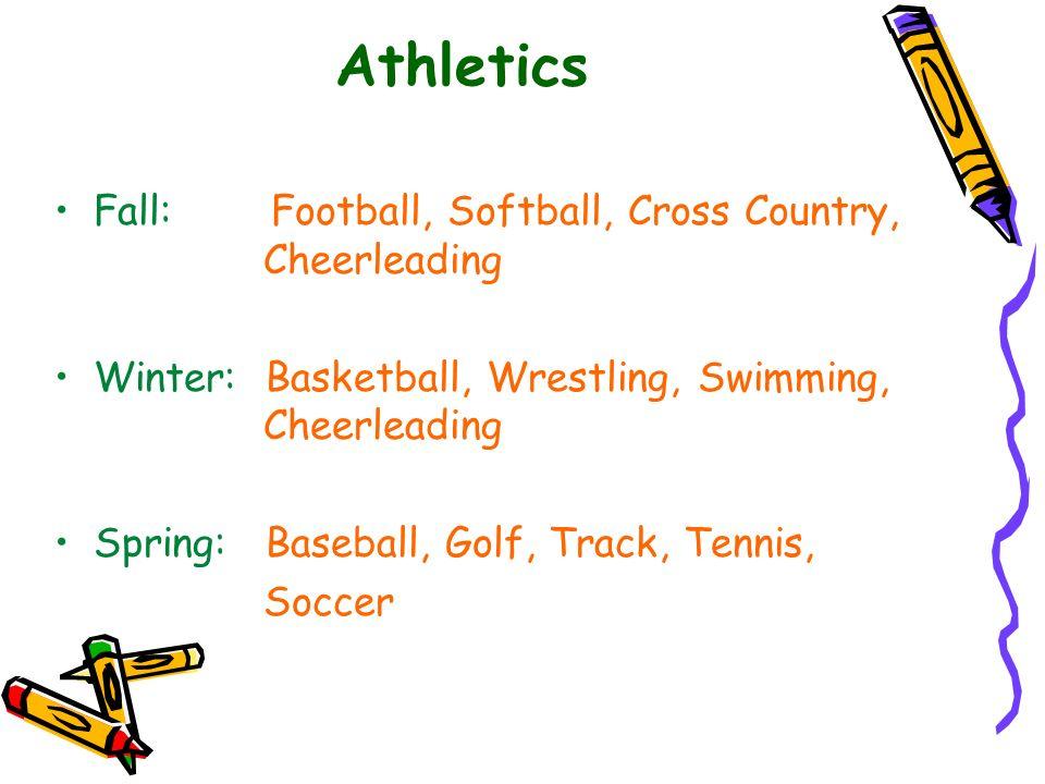 Athletics Fall: Football, Softball, Cross Country, Cheerleading