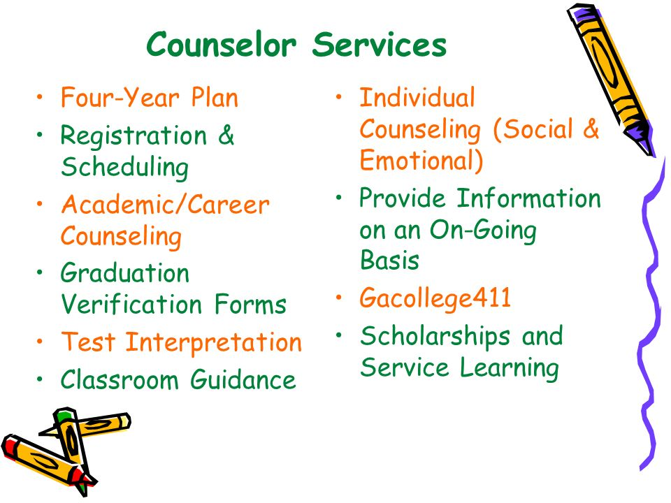 Counselor Services Four-Year Plan Registration & Scheduling