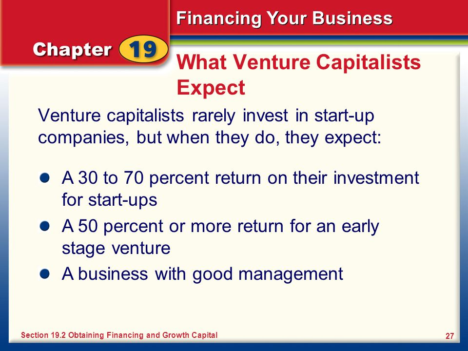 What Venture Capitalists Expect