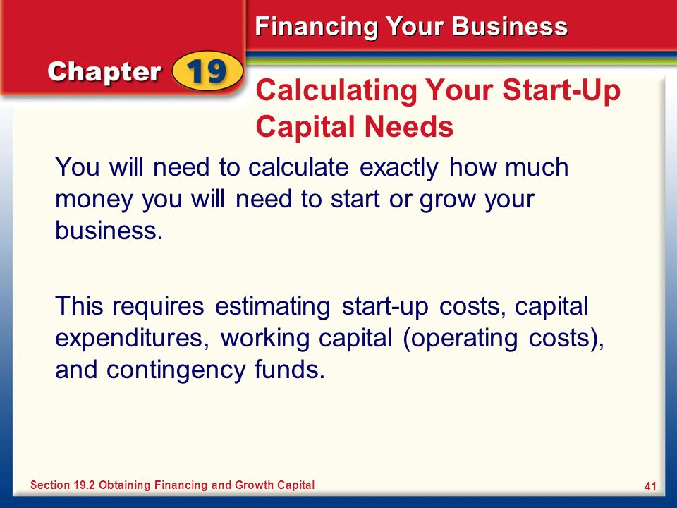 Calculating Your Start-Up Capital Needs
