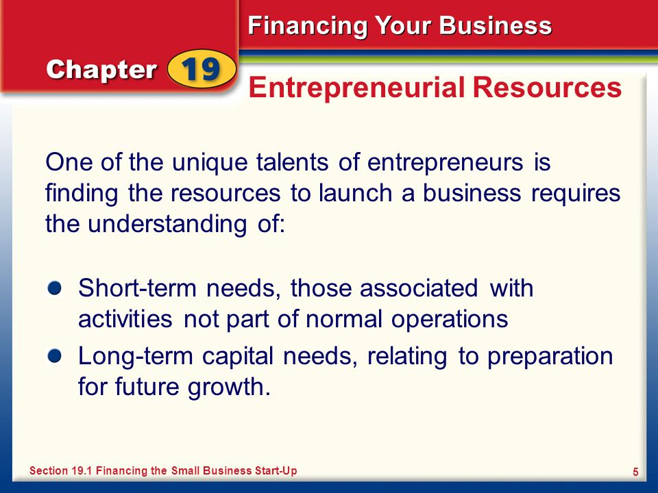 Entrepreneurial Resources