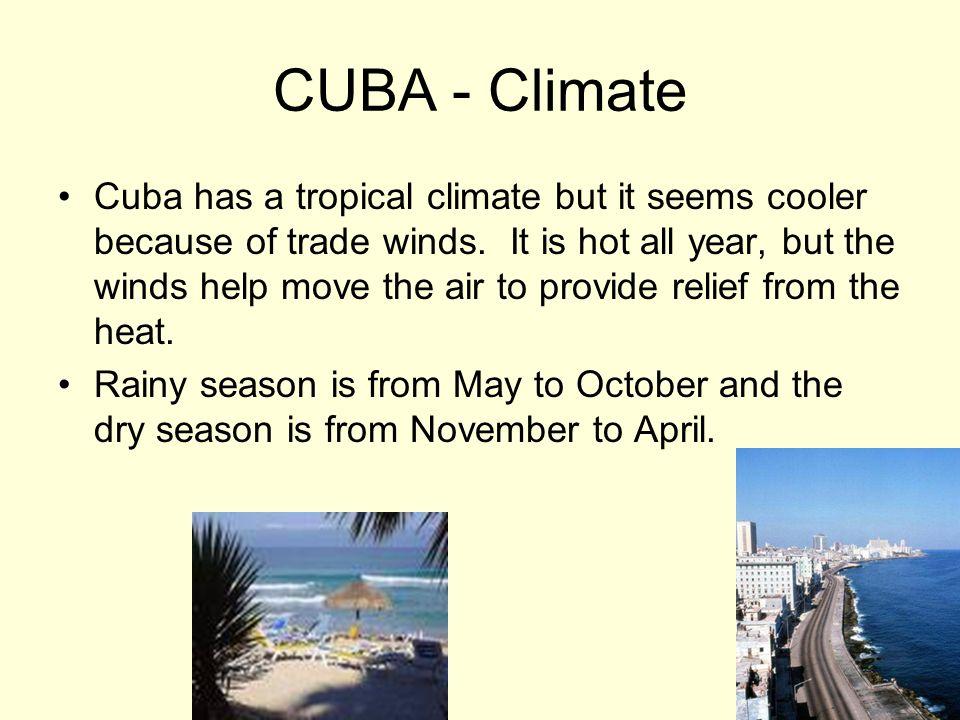 CUBA - Climate