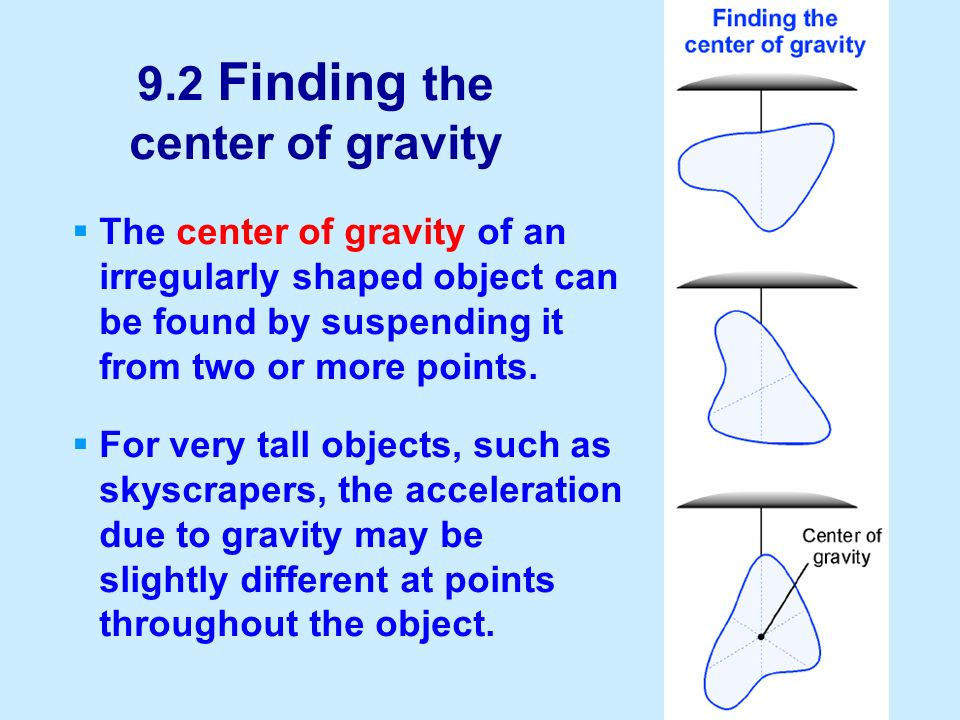 9.2 Finding the center of gravity