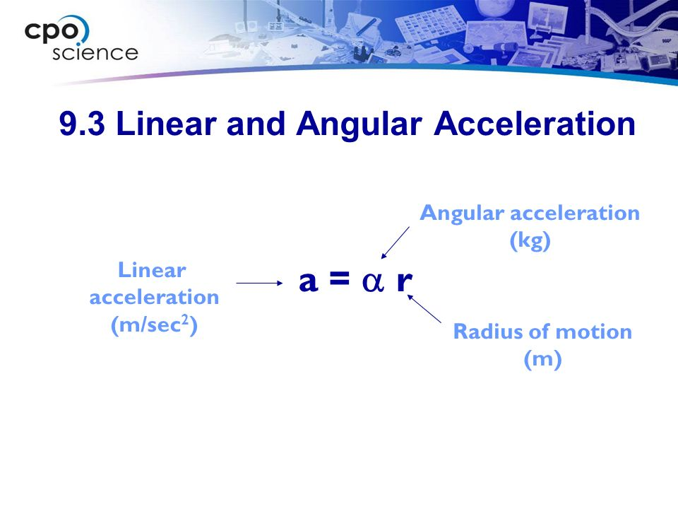 9.3 Linear and Angular Acceleration