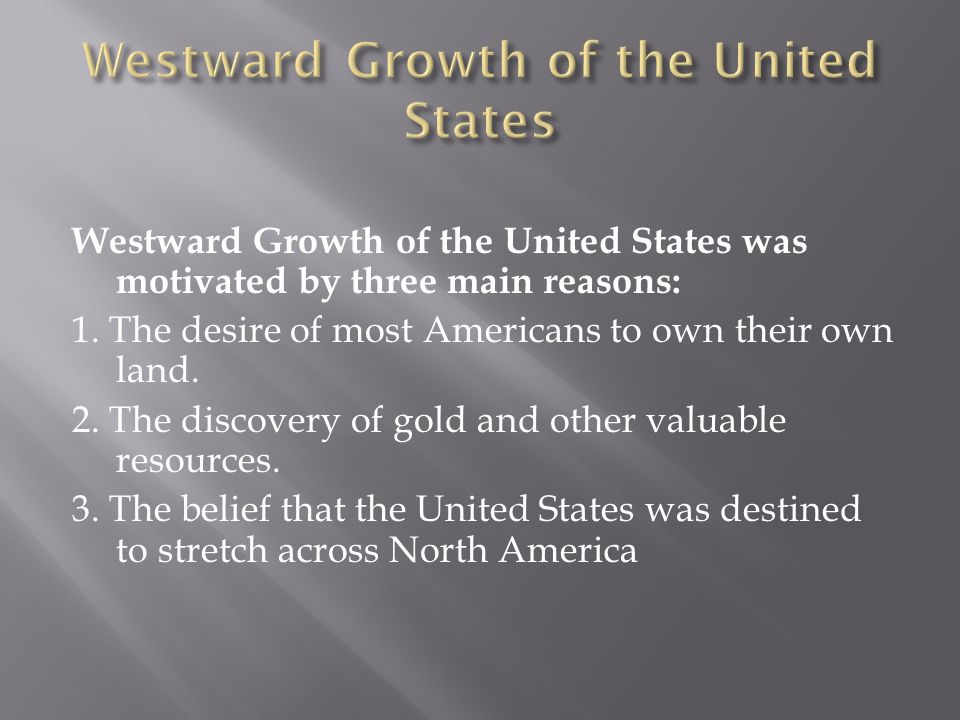 Westward Growth of the United States
