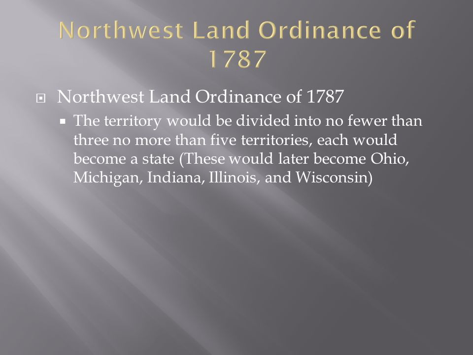 Northwest Land Ordinance of 1787