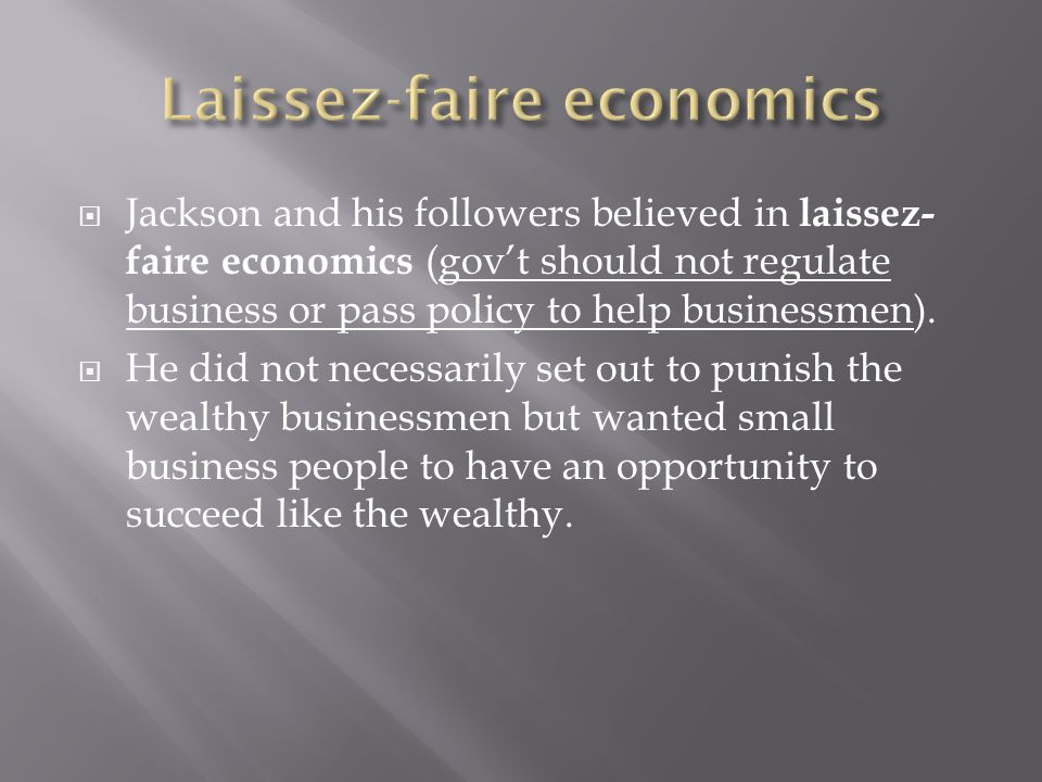 Laissez-faire economics