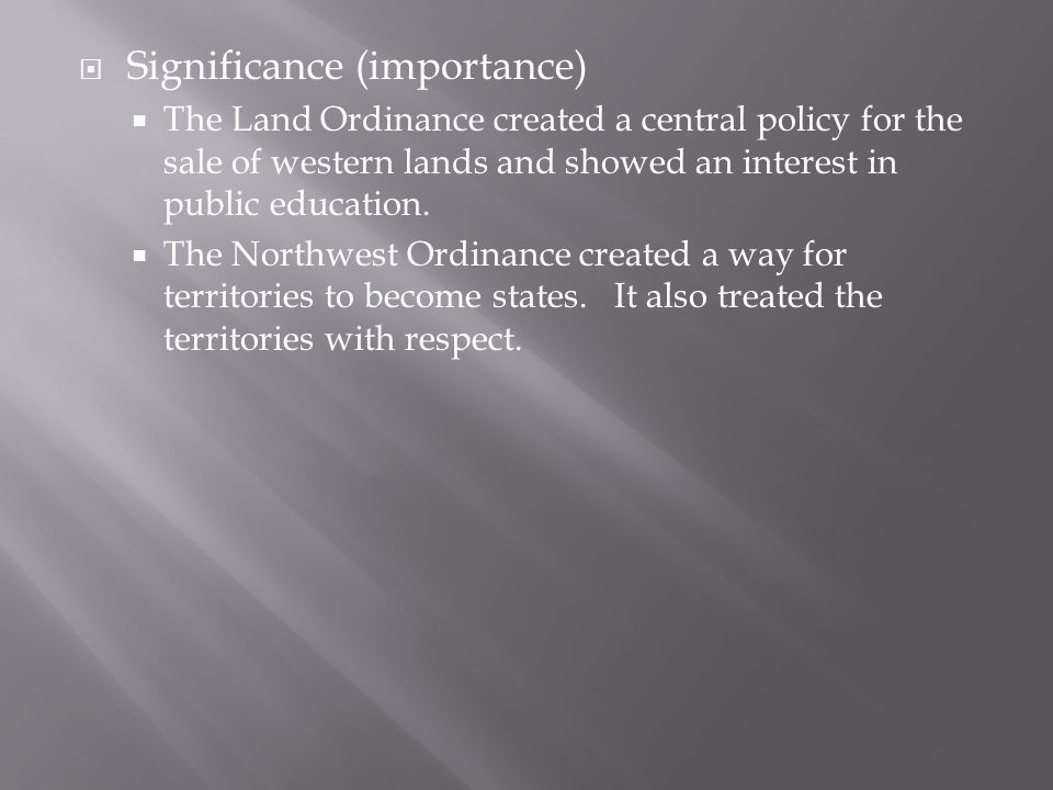 Significance (importance)