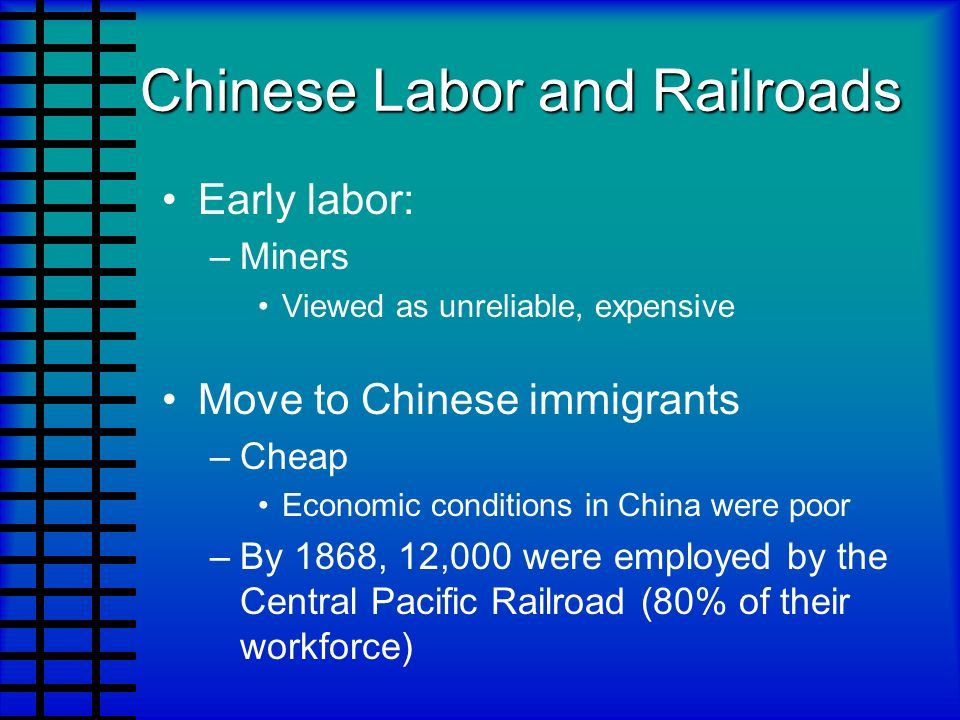 Chinese Labor and Railroads