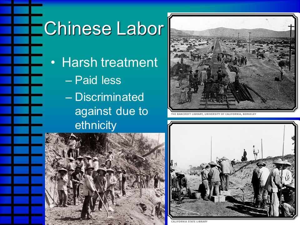 Chinese Labor Harsh treatment Paid less