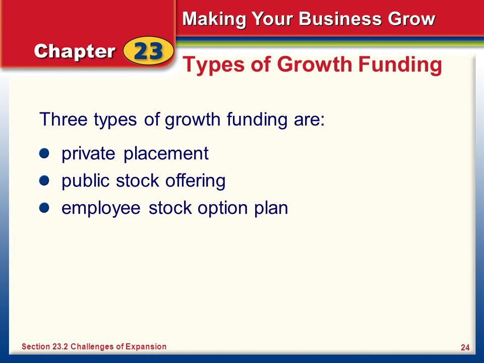 Types of Growth Funding