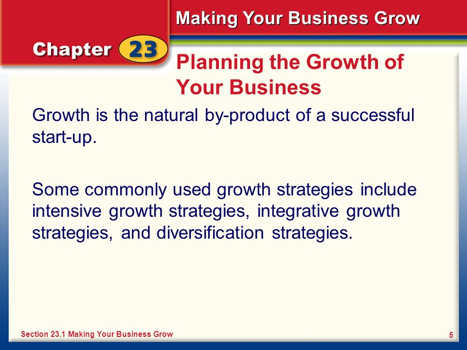 Planning the Growth of Your Business