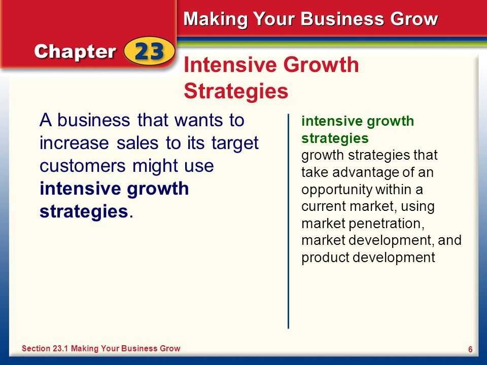 Intensive Growth Strategies