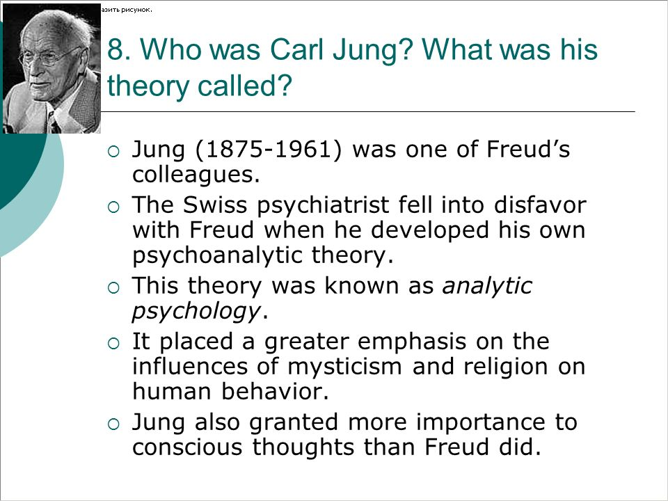 8. Who was Carl Jung What was his theory called
