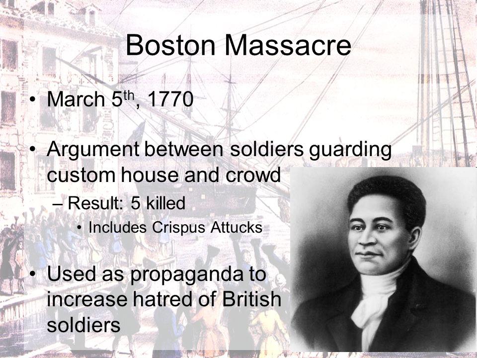 Boston Massacre March 5th, 1770