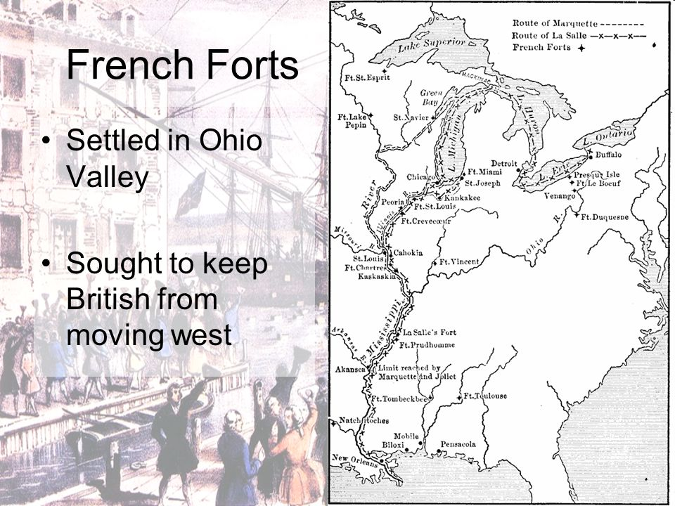 French Forts Settled in Ohio Valley