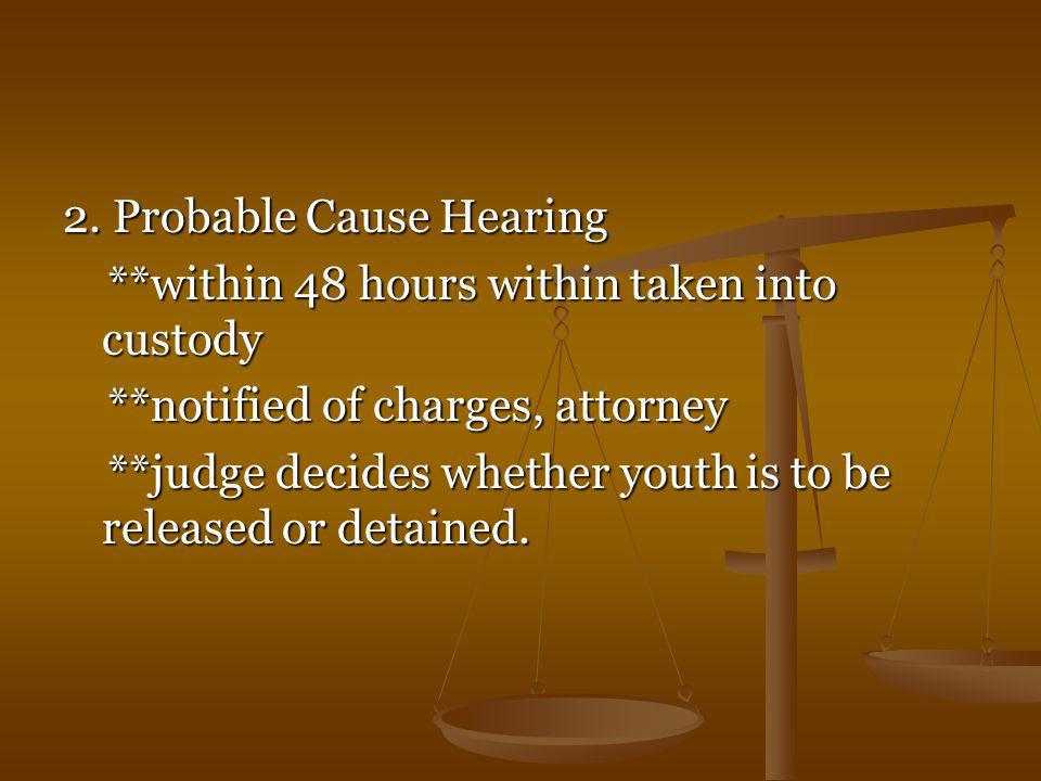 2. Probable Cause Hearing