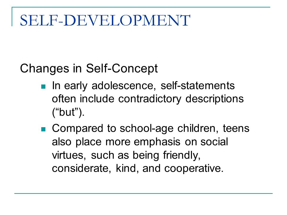 formation change self concept Self-concepts and self-concept change: a status dynamic approach the term stigma, then, will be used to refer to an attribute that is deeply discrediting, but it should be seen that a language of relationships, not attributes, is really needed .