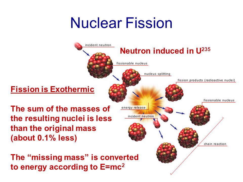 Nuclear Fission Neutron induced in U235 Fission is Exothermic