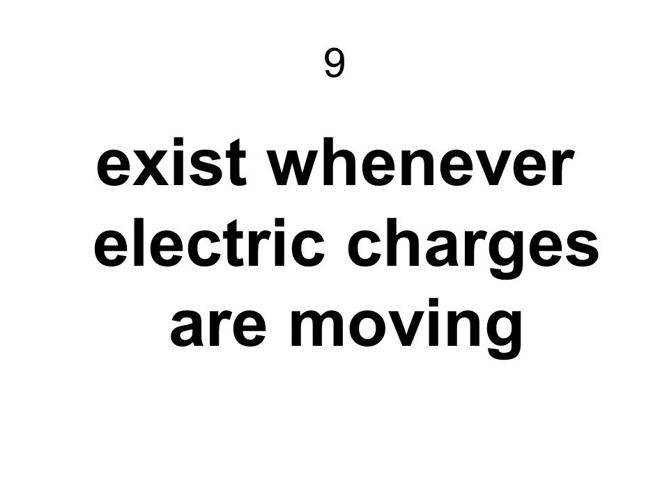 exist whenever electric charges are moving
