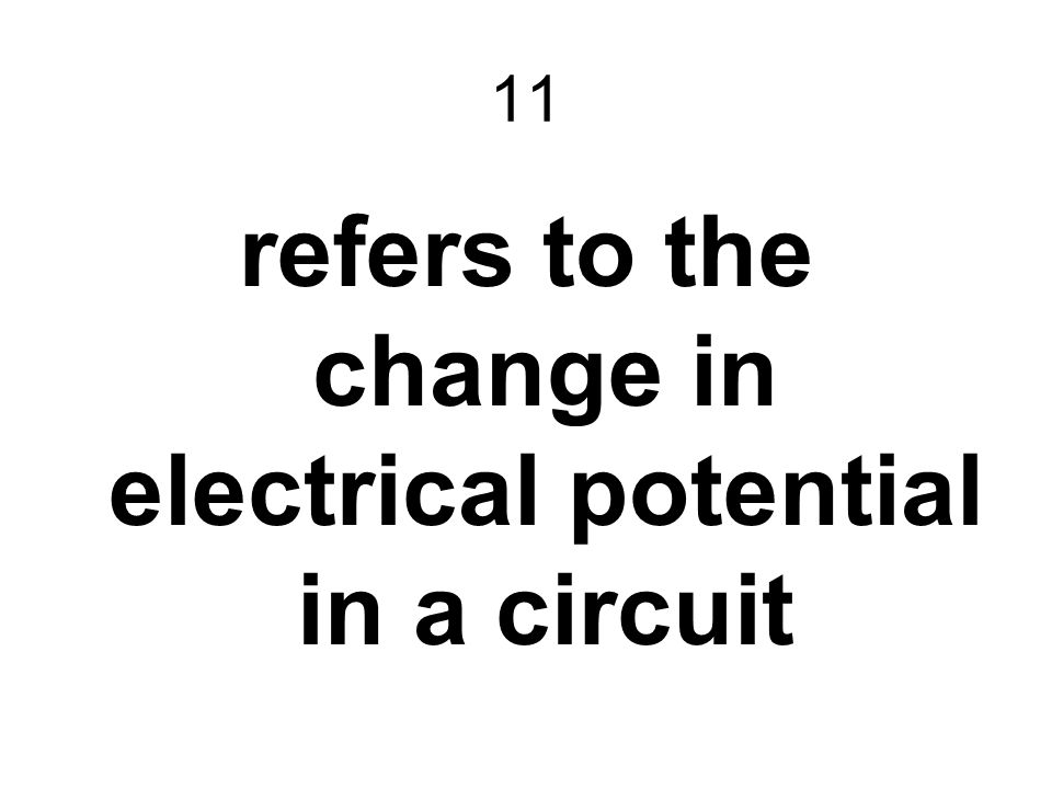 refers to the change in electrical potential in a circuit