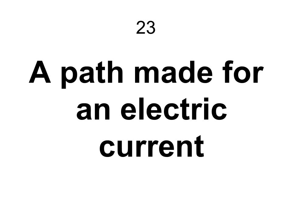 A path made for an electric current