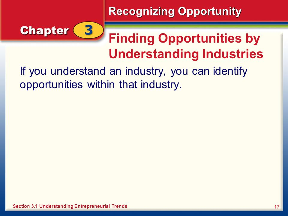 Finding Opportunities by Understanding Industries