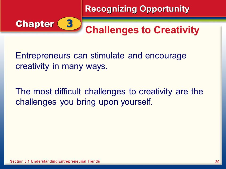 Challenges to Creativity